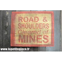 Repro panneau US Road & Shoulders cleared of mines