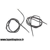 Paire de lacets coton noirs pour chaussures / brodequins