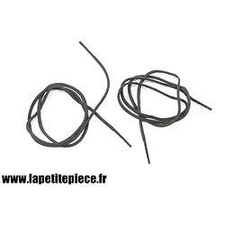 Paire de lacets coton noirs