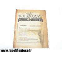 Livret propagande Néerlandais - Volkskamp 1943 7e Jaargang Wintermaand n°9