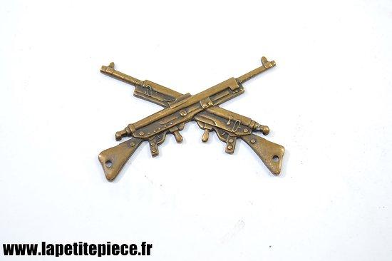 Insigne / brevet de mitrailleur Chauchat, à coudre