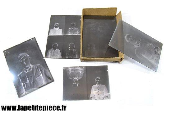 Négatifs sur plaque de verre, années 1930 - 1940. Soldats Allemands