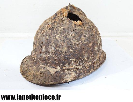 Casque Français 1915, pièce de terrain