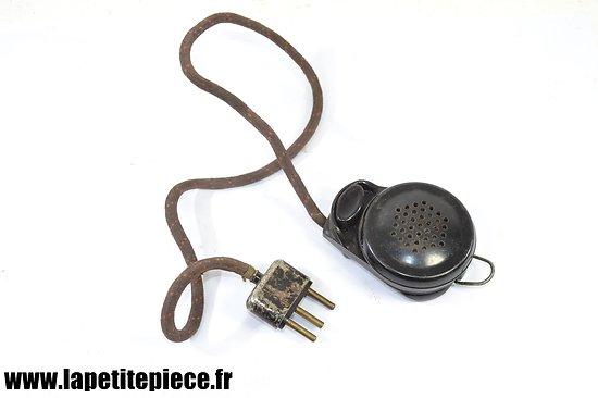 Microphone à main Deuxième Guerre Mondiale