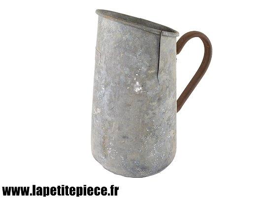 Pichet / broc en zinc Allemand 1941 - Kein Trinkwasser