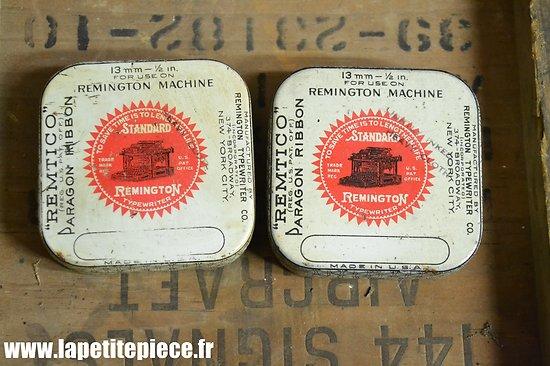Deux boites de ruban de machine à écrire Remington années 1940