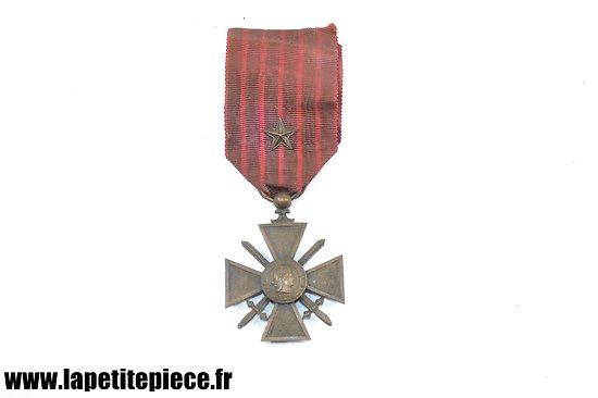 Croix de Guerre 1914 - 1918 avec citation, ruban décoloré