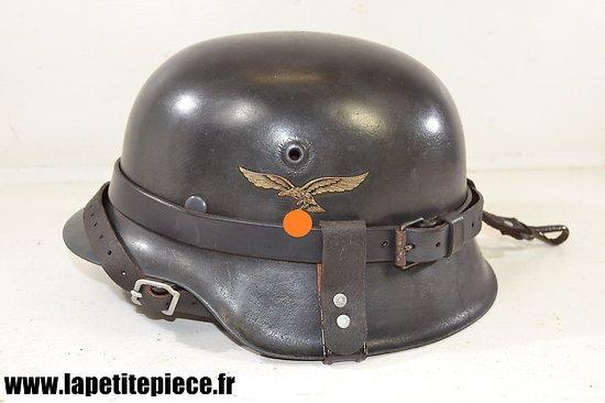 Casque Luftwaffe modèle 42 reconditionné + porte casque