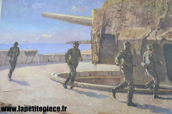 Affiche Allemande 1942 Kriegsmarine Marineartillerie, Artillerie Cotière