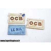 Trois paquets de feuilles papier à cigarettes Français WW2