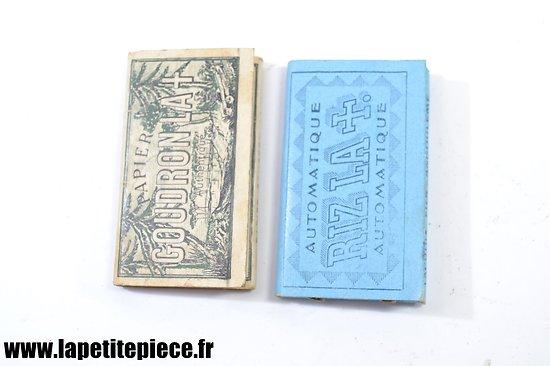 Paquets de feuilles papier à cigarettes Français WW2 - pénurie de Guerre
