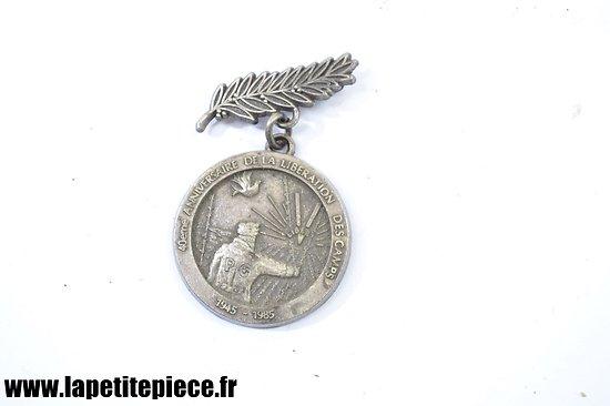 Médaille 40e anniversaire libération des camps de prisonniers de Guerre Ardennes