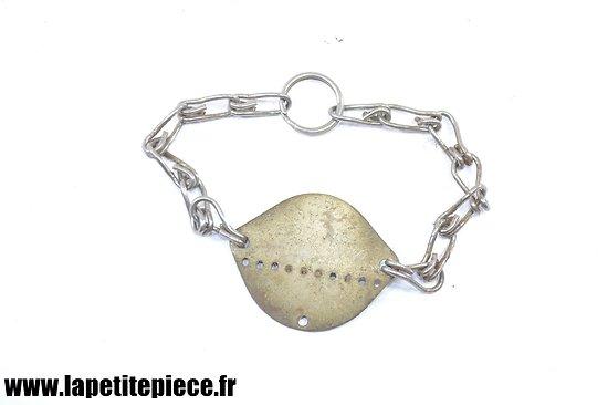 Plaque d'identité / bracelet France WW2