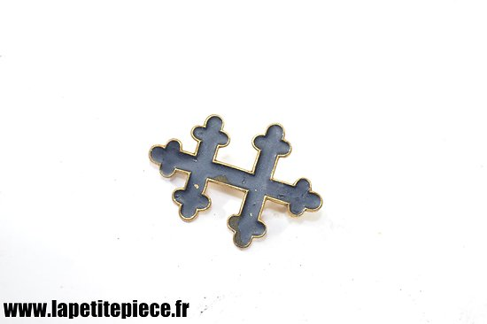 Insigne badge Croix de Lorraine 33mm x 24mm - Résistance WW2