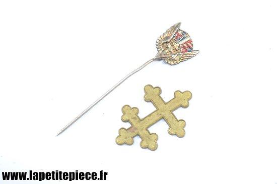 Broche de la victoire Résistance + Croix de Lorraine FFI