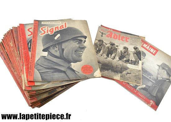 Lot de revues propagande d'occupation : Signal / Adler / La Semaine