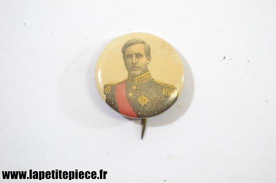 Badge Albert 1er Roi des Belges, G. MARTIN Bruxelles Belgique