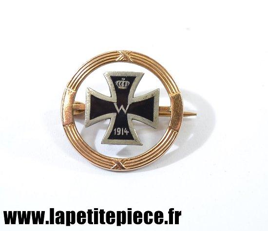 Badge patriotique Allemand Croix de fer 1914
