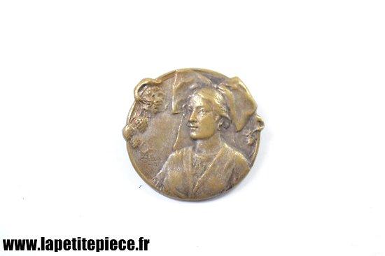 Médaille broche patriotique Française ALSACIENNE - Première Guerre Mondiale