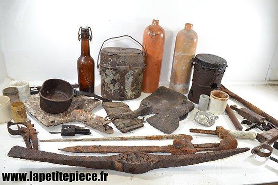 Lot de pièces de terrain Première Guerre Mondiale. Allemand / Français