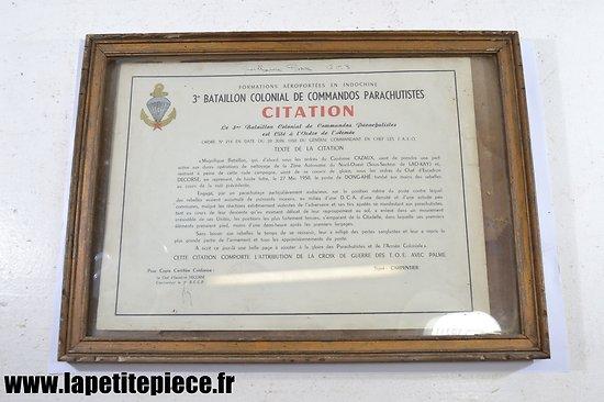 Citation Indochine Dong-Khe - 3 BCCP Decorse Carpentier. Guillaume Pierre GC3