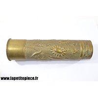 Douille / vase artisanat décor floral