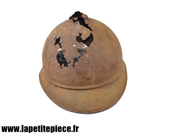 Casque Adrian Première Guerre Mondiale. Epave