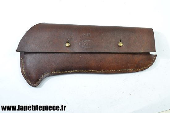 Repro étui cuir pour serpe portative Française Première Guerre Mondiale