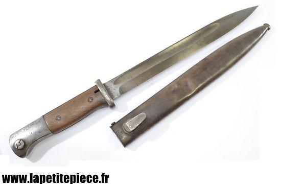 Baionnette Mauser 98K 43CUL + fourreau 42FFC (E. PACK F. Herder Solingen)
