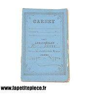 Carnet du cantinier du 119e de ligne 1898