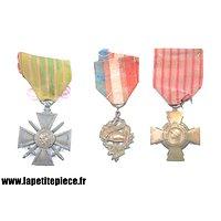 Ensemble de 3 médailles Françaises de la Première Guerre Mondiale