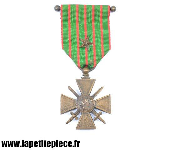 Croix de Guerre Française 1914-1918 avec citation