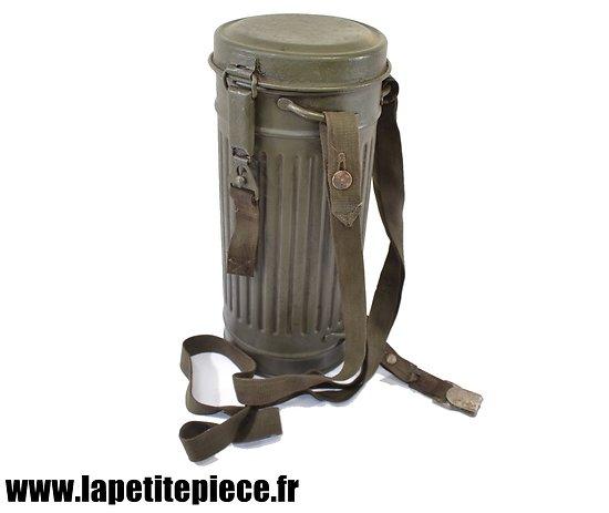 Boitier de masque à gaz Allemand M38 KGB reconditionné