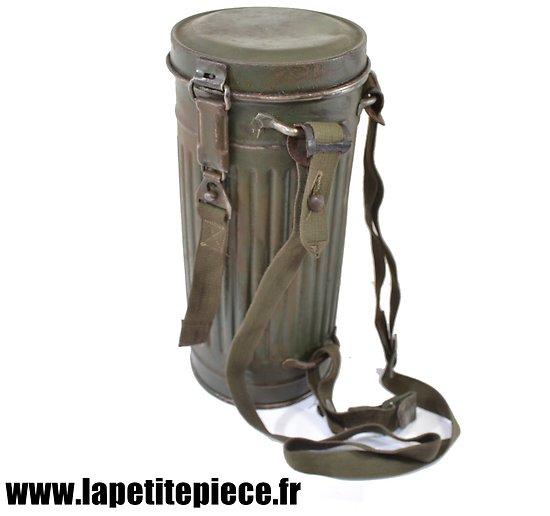 Boitier de masque à gaz Allemand M38 de 1944 reconditionné