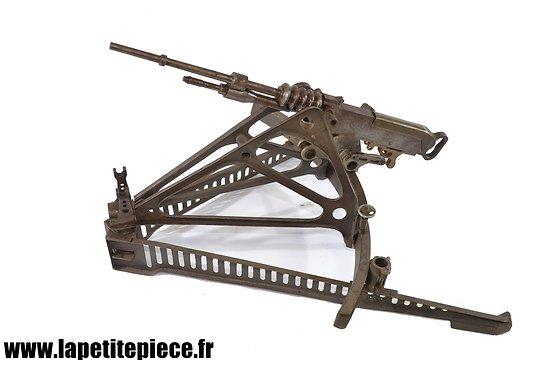 Miniature Mitrailleuse Hotchkiss didactice. Affut rail ligne Maginot