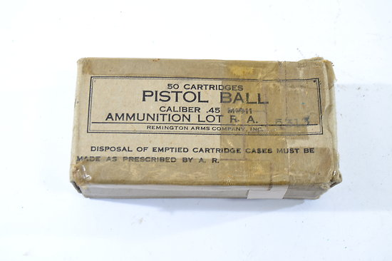 Boite US PISTOL BALL Caliber .45 M1911 Remington Arms Company