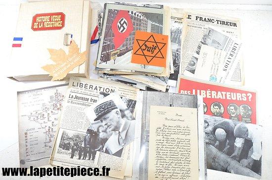Histoire vécue de la résistance - documents fac-similé