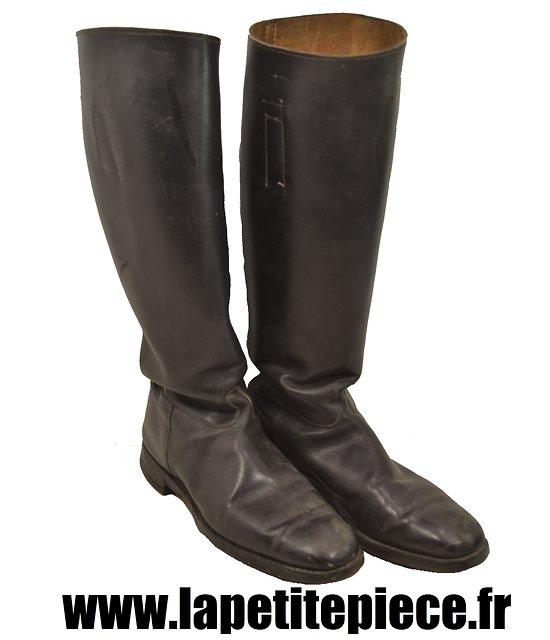 Paire de bottes d'équitation cavalerie Allemandes Première deuxième Guerre Mondiale. Allemand WW1 WW2. Taille 42 43