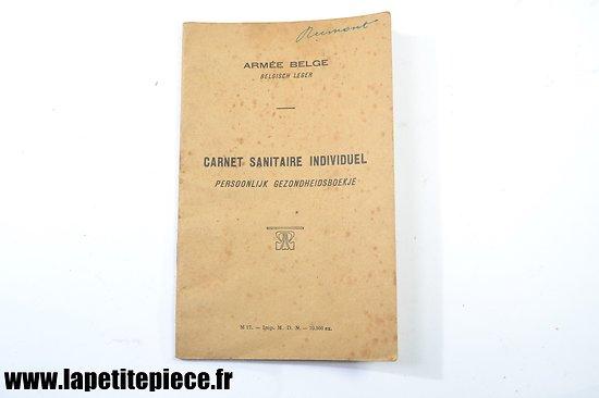 Carnet sanitaire individuel Armée Belge Bataillon de TSF 1 compagnie 1920