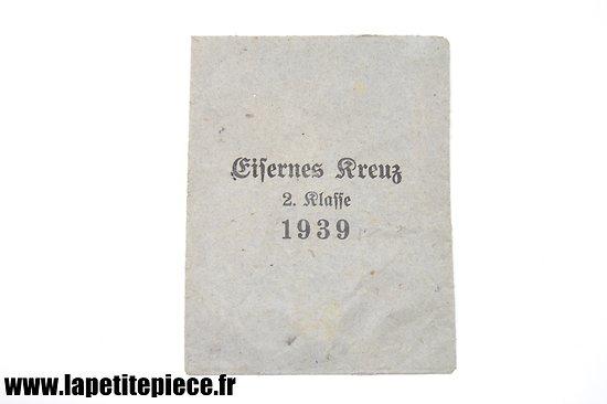 Sachet vide Eisernes Kreuz 2 klasse 1939