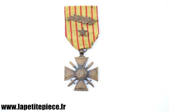 Croix de Guerre 1914 -1918 avec citation et palme