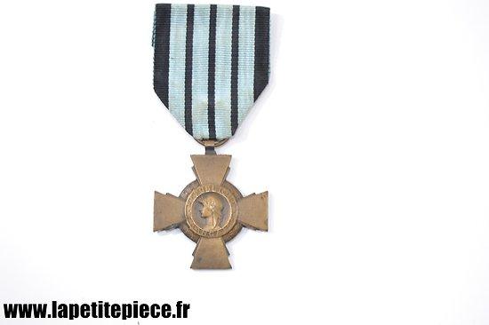 Médaille croix du combattant 1939 - 1940 régime de Vichy