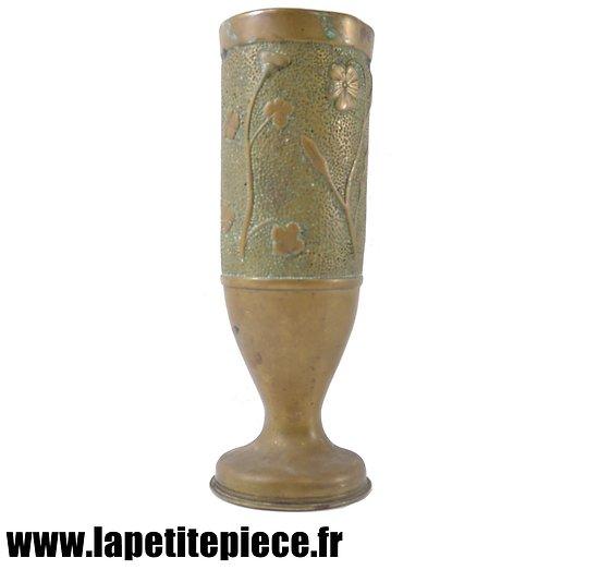 Douille vase artisanat de tranchée Première Guerre Mondiale