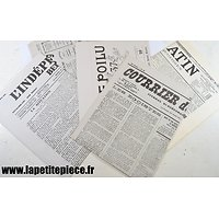 Repro journaux Première Guerre Mondiale, fac-similé.