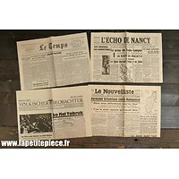 Repro journaux 1942 occupation Allemande
