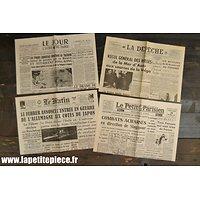 Repro journaux 1941 occupation Allemande