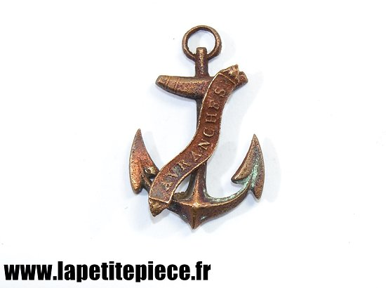 Pendentif souvenir Avranches (Manche / Normandie) ancre de marine