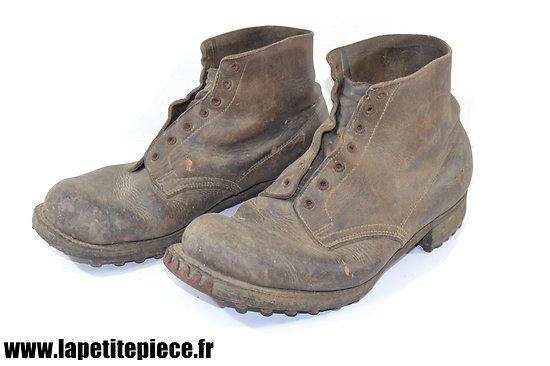 Paire de brodequins de circonstance Français Deuxième Guerre Mondiale