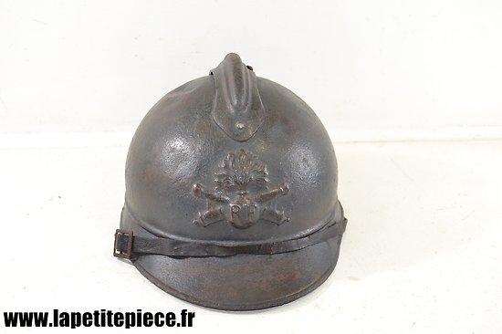 Casque Français Artilleur modèle Adrian 1915. Première Guerre Mondiale