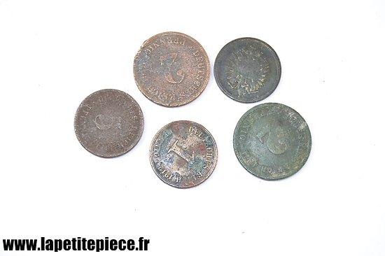 Lot de monnaies Allemandes Première Guerre Mondiale